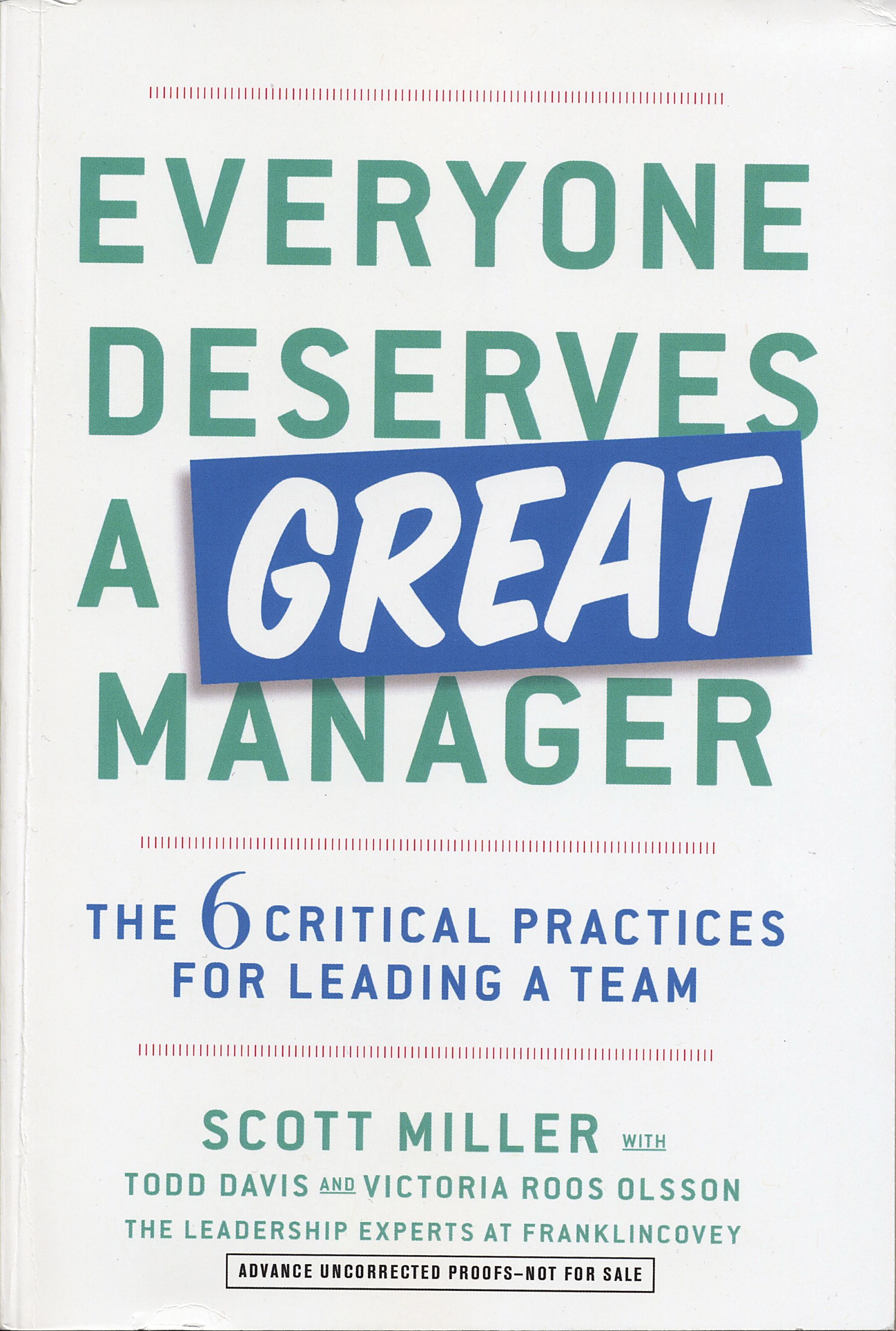 New FranklinCovey book outlines an effective manager's mindset